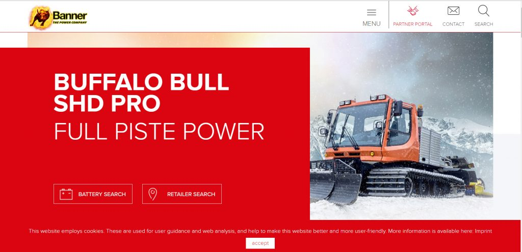 Battery supplier landing page